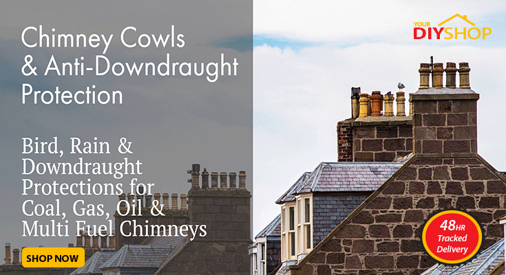 Anti-Downdraught Chimney Cowls, Bird and Rain Protection in a Range of Styles and Sizes