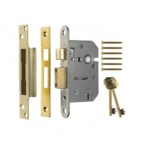 "5 Lever Sash Lock 2.5"" (64mm) 202-32"