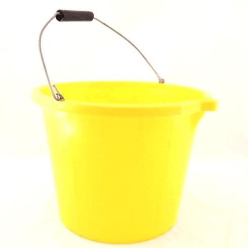 Airflow Plastics Yellow Builders Bucket - 3 gallon - 10 Pack