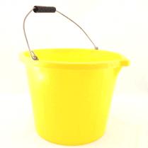 Yellow Builders Bucket - 3 gallon - 10 Pack