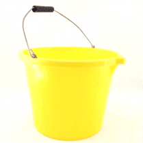 Yellow Builders Bucket - 3 gallon