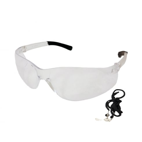 Wraparound Anti-mist Safety Glasses with neck chord