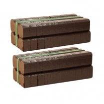 25kg Irish Peat Briquettes - 2 x 12.5kg Bales (44 Blocks)