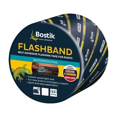 "Bostik Evostik 10m Flashband Self Adhesive Sealant Strip - 225mm (9"")"