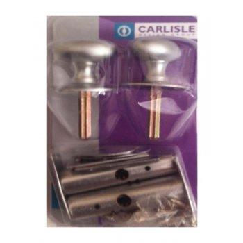 Carlisle Brass Twin Thumb Turn Security Bolt - Matt Chrome