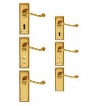 Georgian Door Handle (Latch/Lock/Bathroom) (Short Plate/Long Plate)
