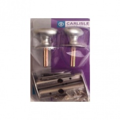 Carlisle Brass Twin Thumb Turn Security Bolt - Matt Chrome