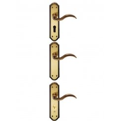 Wentworth Door Handle Bronze (Latch/Lock/ Bathroom)