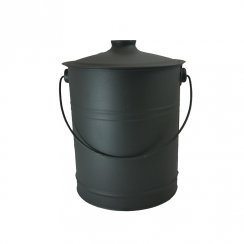 COAL BUCKET METAL WITH LID BLACK 1891