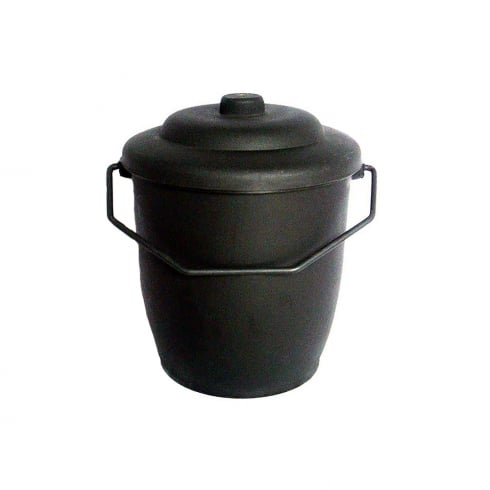 COAL BUCKET PLASTIC WITH LID BLACK CBS1895