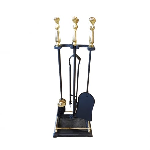 Castle Fireside Collection Companion Set Black and Brass