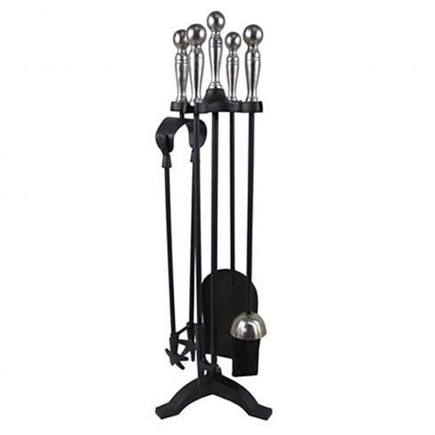 Castle Living Ball 5 Piece Companion Set Black & Pewter 23in