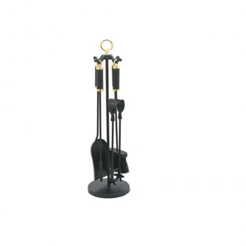 Castle Living Column Companion Set Black/Brass 5 Piece Set