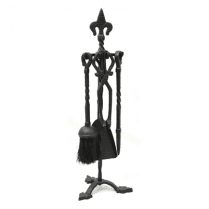 Castle Living Fleur De Lys 5 Piece Companion Set Black 21 in