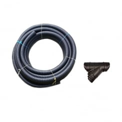 "Land Drain Pipe 60mm (2"") 25 Meters plus Multi Y Connector"