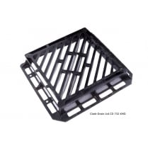 600x600x100mm D400 Double Triangle Gully Grate
