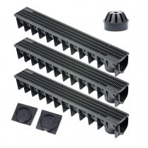 Clark Drain Drainage Channel Pack for Patios, Driveways, Garage and Garden