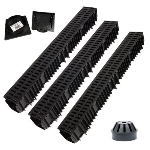 Clark Drain Drainage Channel Pack for Patios, Driveways or Paths