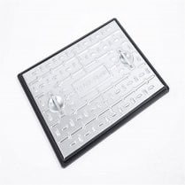 Galvanised Pedestrian Use Manhole Cover 663x513x30 PC6AG