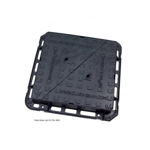 Clark Drain Heavy Duty Ductile Iron Manhole Cover - Double Triangle Cover and Frame - Residential Use CD701 KMD