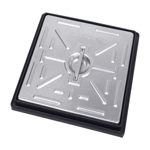 Clark Drain Pedestrian Manhole Cover - Galvanised Steel and PVC Frame PC2AG