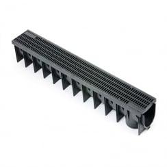 PVC DRAINAGE CHANNEL 1.0MT C/W PVC GRATE