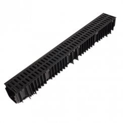 PVC Drainage Channel 1.0MT inc PVC Grate New Design CD422