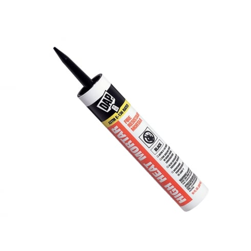 DAP Fire Resistant Mortar 296ml Tube - Black