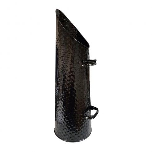 """De Vielle Black Basket Weave Effect Coal Hod 22"""""""