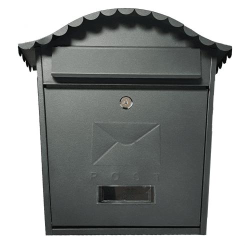 De Vielle Traditional Grey Post Box