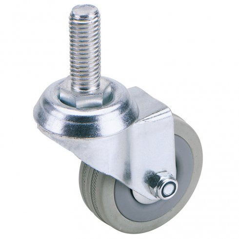 Bolt Castors with Rubber Wheeled Swivel