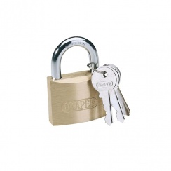 Draper DIY Series 50mm Brass Cylinder Padlock