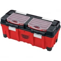 EXPERT 660MM heavy duty impact resistant polypropylene tool box with tote tray