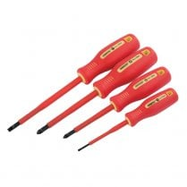 Fully Insulated Screwdriver Set (4 Piece)