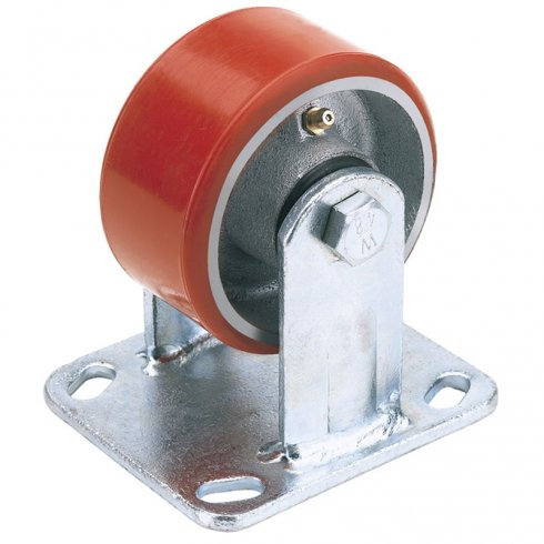 Heavy Duty Polyurethane Wheeled Fixed Plate Castors