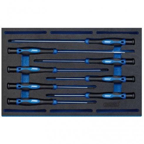 Draper Long Precision Screwdriver Set - 8 Piece