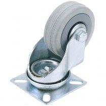 Rubber Wheeled Swivel Plate Castors