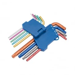 DRAPER TX-STAR® SECURITY COLOURED KEY SET (9 PIECE)