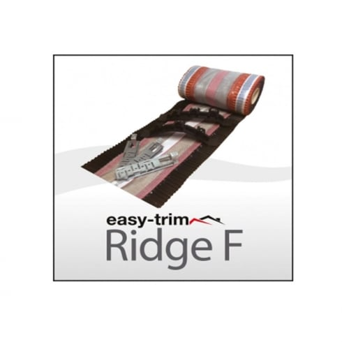 EasyTrim Roofing and Construction Products Ridge F - Dry Fix Ridge Kit Black - 6 Metre