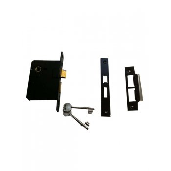 "ERA 2 1/2"" Standard 3 Lever Black Mortice Lock"