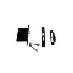 "2 1/2"" Standard 3 Lever Black Mortice Lock"