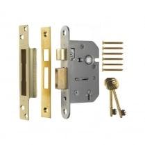 """5 Lever Sash Lock 2.5"""" (64mm) 202-32"""