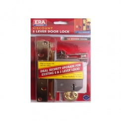 "ERA Viscount 5 Lever Dead Lock - 64mm (2 1/2"") Deadlock"