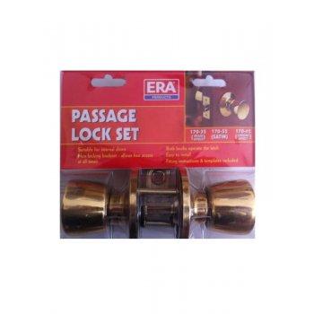 ERA Passage Lock Set - Brass