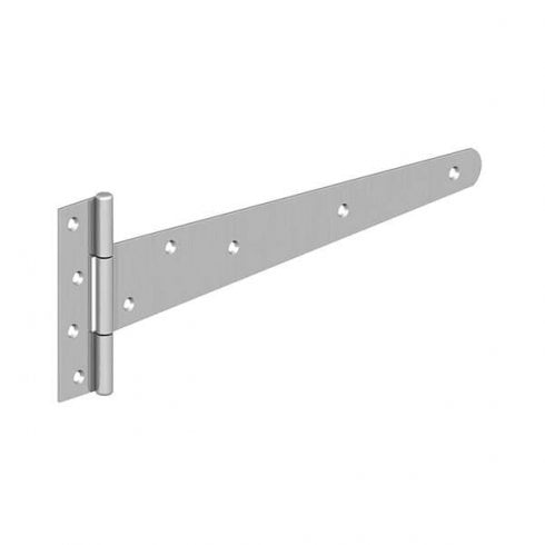 "GateMate Strong Tee Hinges  8"" (200mm)  Bright Zinc Plated"