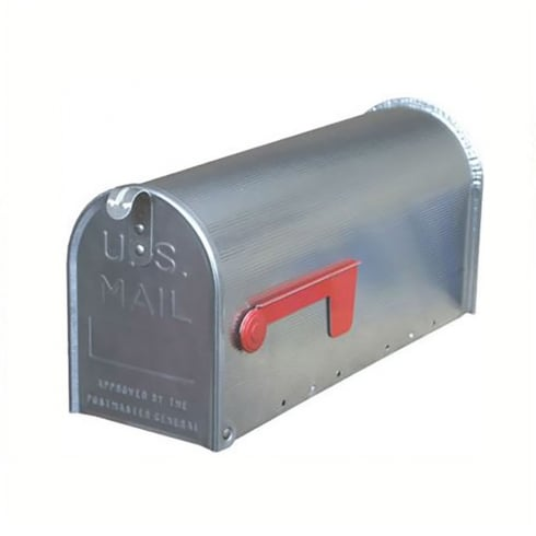 Gibraltar Industries Post Box - Classic American Style Silver Aluminium