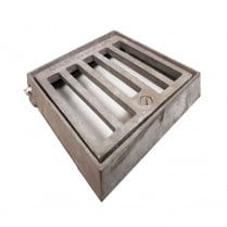 Square Galvanised Gully Grate with Locking Screw 150mm x 150mm