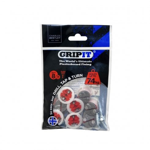 GRIPIT RED Plasterboard Fixings 25PACK