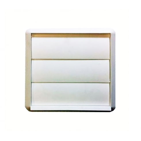 White Flap Vent 100mm/4