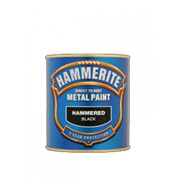 Hammerite Hammered Finish Metal Paint 250ml White or Black